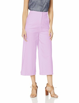 ASTR the Label Women's Nixon HIGH Waisted Stretch Cropped Flared Culotte Pants