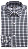 Tom Ford Thick Check Dress Shirt, Black/White