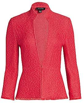St. John Women's Refined Knit Highneck Jacket