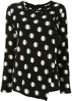 Y's polka-dot long-sleeve T-shirt