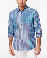 Tasso Elba Men's Multicolor Grid-Pattern Cotton Shirt, Only at Macy's