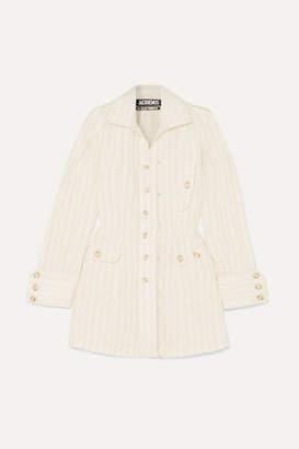 Jacquemus Roman Striped Linen Shirt - Off-white