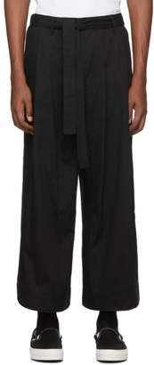 Naked & Famous Denim Denim Denim SSENSE Exclusive Black Wide Trousers