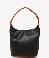 Sole Society Women's Mallory Hobo Vegan Bag Leather Black Combo Vegan Leather From