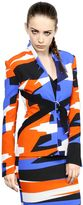 Thierry Mugler Tailored Printed Viscose Blend Jacket