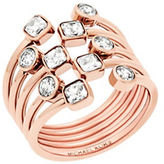 Michael Kors Modern Brilliance Cubic Zirconia and Rose Goldtone Stainless Steel Ring