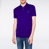 Paul Smith Men's Slim-Fit Purple Mercerised-Cotton PS Logo Polo Shirt