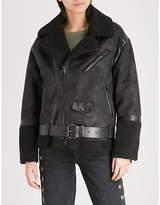 Izzue Oversized faux-shearling jacket