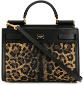 Dolce & Gabbana Sicily 62 leopard print tote bag