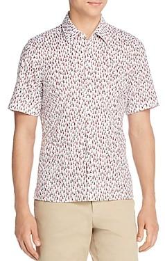 HUGO BOSS Lukka Short-Sleeve Sailboat Print Regular Fit Shirt