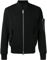Ami Alexandre Mattiussi zipped bomber jacket - men - Cotton/Virgin Wool - XS