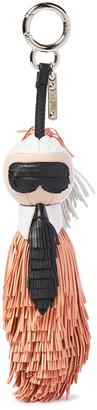 Fendi Karlito Fringed Leather Bag Charm