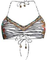 Camilla Ruched Tie Bikini Top
