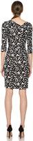 Diane von Furstenberg Bentley SJ Three Quarters Dress in Geo Marks Black