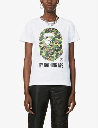 BAPE Abc Flower cotton-jersey T-shirt
