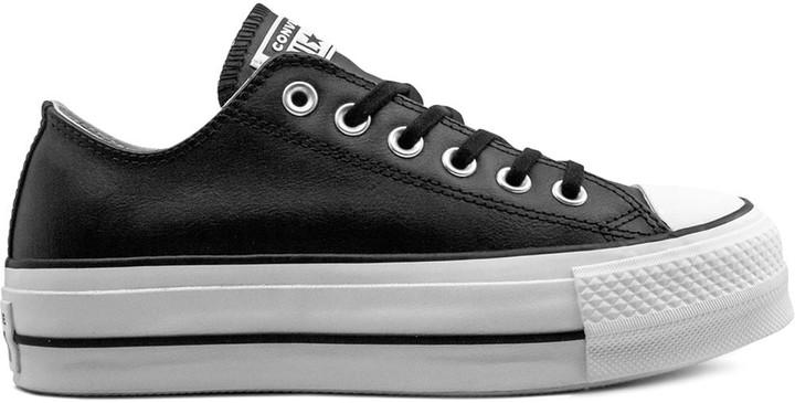 Black Leather Converse Womens   Shop