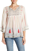 Plenty by Tracy Reese Embroidered Bell Sleeve Blouse