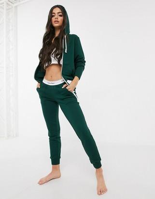 Calvin Klein Modern Cotton Lounge joggers in green