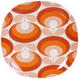 Orla Kiely 70's Flower 26.7cm Melamine Dinner Plate, Red