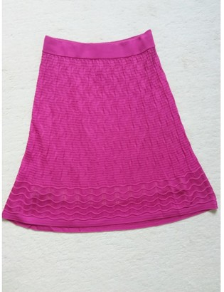 M Missoni Pink Cotton - elasthane Skirt for Women