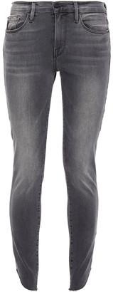 Frame Le Skinny De Jeanne Faded Mid-rise Skinny Jeans