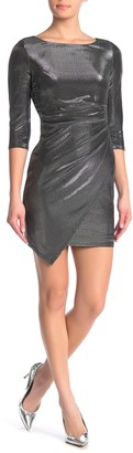 Jump Metallic Draped Hem Bodycon Dress