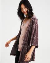 Aeo AE Crushed Velvet Kimono
