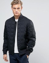 Converse Quilted Bomber Jacket In Black 10003390-A01