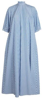 Hanna Fiedler Pinstripe Smock Maxi Dress