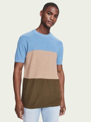 Scotch & Soda Wool-blend knitted t-shirt | Men