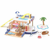 International Playthings Calico Critters Seaside Cruiser Houseboat