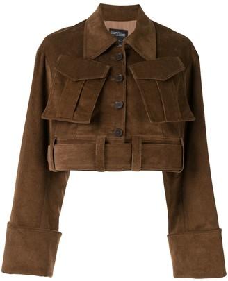 Rokh Cropped Corduroy Jacket