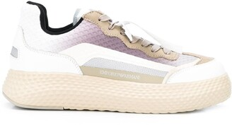 Emporio Armani Bomber lace-up low-top sneakers