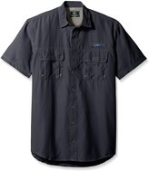 G.H. Bass Men's Big and Tall Explorer Short Sleeve Point Collar Fishing Shirt