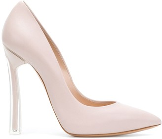 Casadei Contrast Heel Pointed Toe Pumps