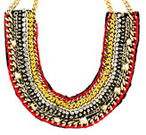 Vince Camuto Vince CamutoTM Neutral, Red and Goldtone Statement Necklace