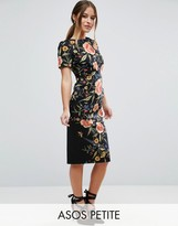 Asos Smart Woven Dress in Floral Embroidery Print