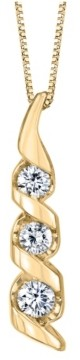 Sirena 1/3 ct. t.w. Diamond Classic Three Stone Pendant in 14k Yellow Gold