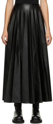 Peter Do Black Pleated Maxi Skirt