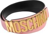 Moschino Lettering Belt