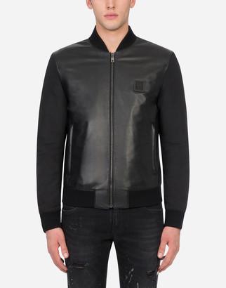 Dolce & Gabbana Leather And Nylon Jacket