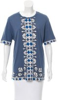 Tory Burch Abstract Print Short Sleeve T-Shirt