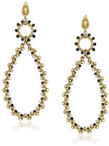 Azaara Romantic Chandelier Pearl with Multicolor Beads Drop Earrings