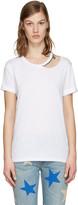 Stella McCartney White Cut-Out Chain T-Shirt