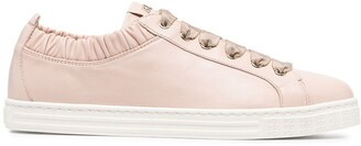 AGL Suzie leather sneaker with elastic