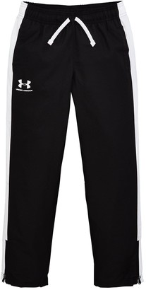 Under Armour Childrens Woven Track Pants -Black white