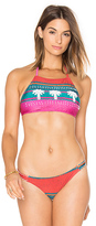 AGUADECOCO Embroidered Bikini Top