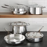 Crate & Barrel ZWILLING ® Demeyere 5-Plus Stainless Steel 10-Piece Cookware Set