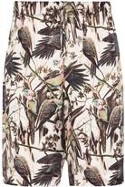 Edward Crutchley birds print shorts