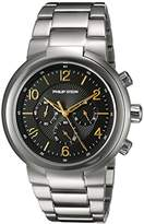 Philip Stein Teslar Men's 'Active' Quartz Stainless Steel Casual Watch, Color:Silver-Toned (Model: 32-ABG-SS)